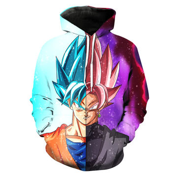 Goku VS Black Goku V2 Dragon Ball Z Hoodie