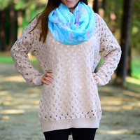 Snuggle Up Sweater, Beige