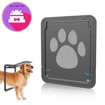New Black Pet Door for Screen Window Automatic Close Door for Dogs Cats Safety Convenient Access Dog Flap Gate Pets Supplies