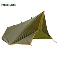 Outdoor camping traveling survivor awning Multi-function mat folding PU waterproof portable tent