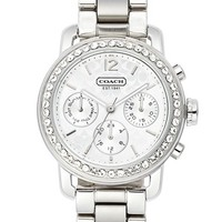 COACH 'Legacy Sport' Crystal Bezel Bracelet Watch, 36mm