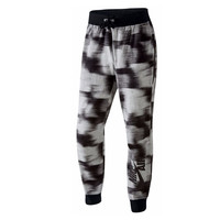Black and White Abstract Glitch Joggers by Nike
