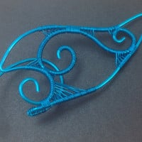 Bright Blue Wire Elf Ear Tips / Ear Extensions