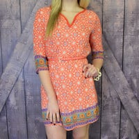 City Market Orange Belted Dress