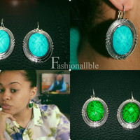 Vintage Inspired Drop Earrings ( Available in Aqua and Green)