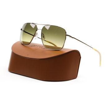 Oliver Peoples Clifton Sunglasses 5035/85 Gold, Chrome Olive Photochromatic Lens