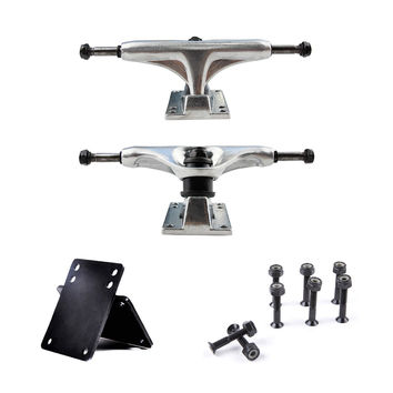 1 Pair 5inch Skateboard Truck Aluminum Hot Independent Skateboard Trucks By Gravity Casting Produce Skills Truck Skate