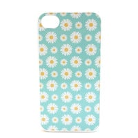 Light Blue Daisy Print Phone Case