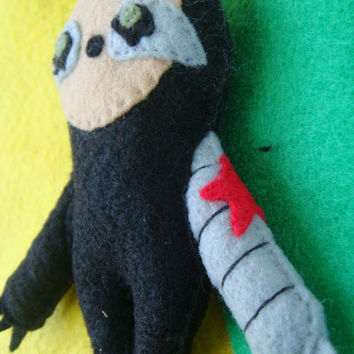 Winter Soldier / Bucky Barnes inspired Sloth Plush! Superhero Felt Friend