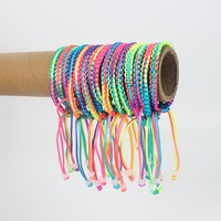 20pcs 6mm Width Colorful Braid Cord Friendship Bracelets/ Handmade Bracelet/Bangle Fashion