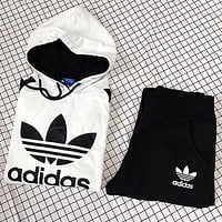 """Adidas"" Hoodie Pants Movement Two-Piece"