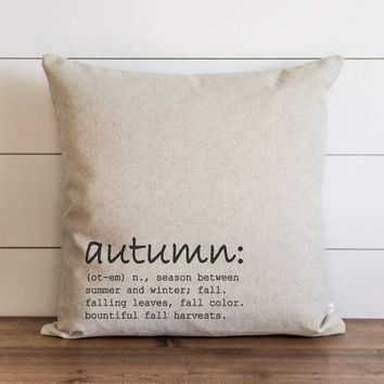 Autumn Definition Fall Pillow Cover