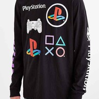 Sony PlayStation Long-Sleeve Tee- Black