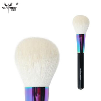 Anmor Goat Hair Large Powder Brush High Quality Professional Makeup Brushes Soft Kabuki Brush CFCB-B01