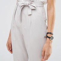 ASOS TALL Woven Peg Trousers With Obi Tie