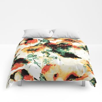Flowers And Butterflies Comforters by RIZA PEKER