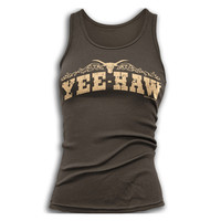 Women's Yee Haw Tank Top - Brown