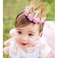 Girls 1st Birthday Mini Princess Crown