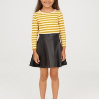 Faux Leather Skirt - Black - Kids | H&M US