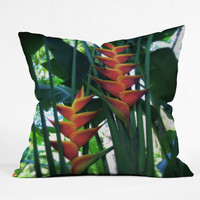 Deb Haugen Haleiwa Heliconia Throw Pillow