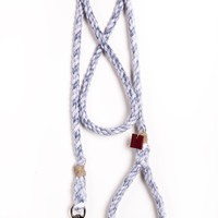 Rope dog leash pet supplies dog collar dog lead: Medium marbled gun metal cotton blend rope 65""