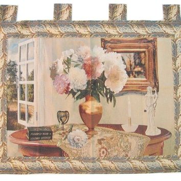 "DaDa Bedding Breeze of Admiration Elegant Woven Baroque Tapestry Wall Hanging - 36"" x 47"""
