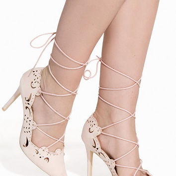 Cut Out Lace Up Pump, NLY Shoes