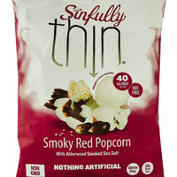 Sinfully Thin All Natural Popcorn Smoky Red -- 5 oz