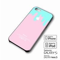 Logo Pink Aqua Teal Pastel Ice Cream Drip Spring iPhone case 4/4s, 5S, 5C, 6, 6 +, Samsung Galaxy case S3, S4, S5, Galaxy Note Case 2,3,4, iPod Touch case 4th, 5th, HTC One Case M7/M8