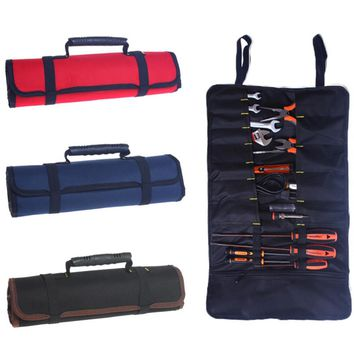 Utility Bag Multifunctional Oxford Canvas Chisel Roll Rolling Repairing Tool  Practical with Carrying Handles 3 Colors