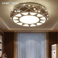 Remote Control Dimmable Lustre modern LED ceiling lights for living room bedroom home decoration ceiling lamp