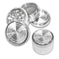 Magno Mix Lasered Aluminum Herb Grinder 40mm - 4-part