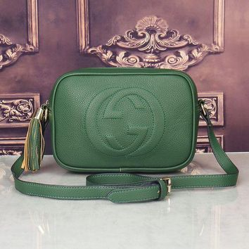 Gucci Women Shopping Fashion Leather Shoulder Bag Crossbody Satchel H