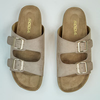 Buckled Sandals in Taupe
