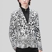Versace - Tailored Leopard Print Blazer