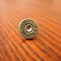 Mens Single Bullet Earring- Stud- Post- 38 Special- Guys Earring- Piercing- Cowboy- Ammo- Pistol- Country Boy- Military- Fathers Day