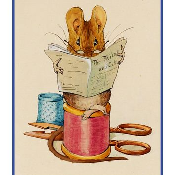 Mouse From The Tailor of Gloucester inspired by Beatrix Potter Counted Cross Stitch or Counted Needlepoint Pattern