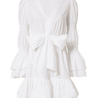 Exclusive for Intermix Bennet White Poplin Dress - INTERMIX®