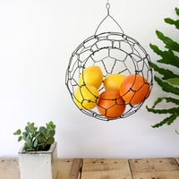 Hanging Sphere Wire Basket