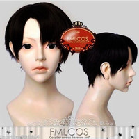 2015 Attack on Titan Black Short Anime Cosplay Wig+ wigs hairnet