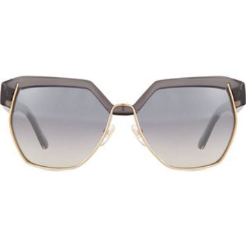 Chloe Universal Fit Dafne Mirrored Hexagonal Sunglasses