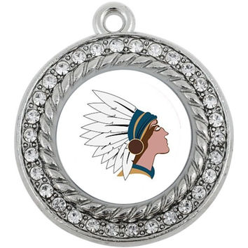 Native American Circle Cham Vintage Antigue Silver Jewelry