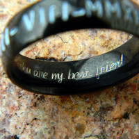 Engraved Ring  Inside Engraving EXTRA  ADD ON for Couples  Name Rings