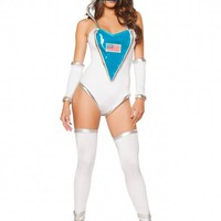 Space Commander 1pc Sexy Fantasy Costume