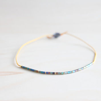 Silk thread bracelet/ dainty jewelry/ wish bracelet/ effortless chic bracelet/ birthday bracelet