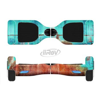 The Bright Turquise Rusted Surface Full Body Skin Set for the Smart Drifting SuperCharged Transportation iiRov