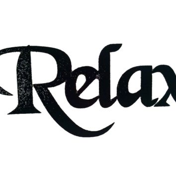 Relax Word Decorative Metal Wall Art Home Bathroom Decor