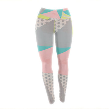 "Louise Machado ""Geometric Pastel"" Yoga Leggings"