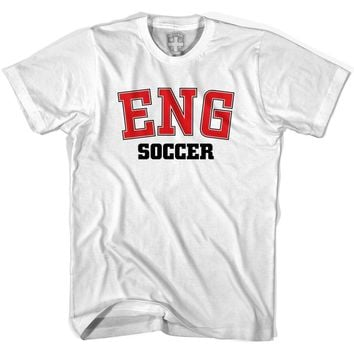 England ENG Soccer Country Code T-shirt-Adult