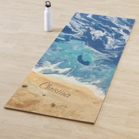 Beach Abstract Personalized Yoga Mat